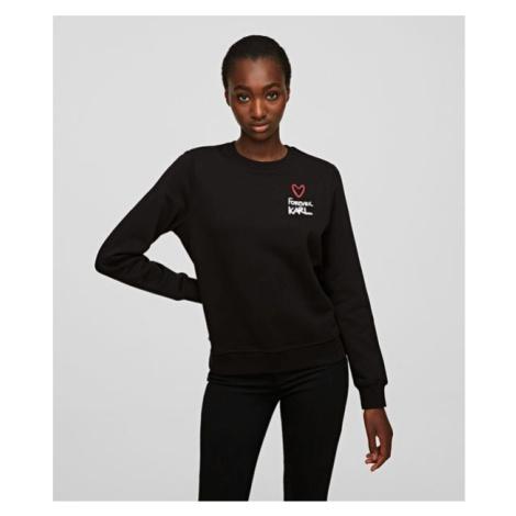 Mikina Karl Lagerfeld Forever Karl Sweatshirt - Černá