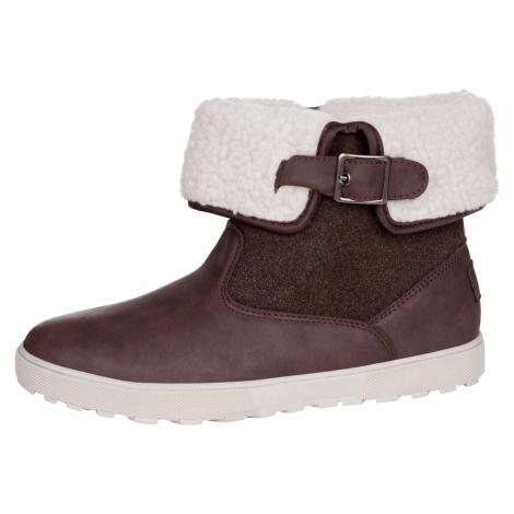 Dámská zimní obuv Alpine Pro NALINA - tmavě hnědá