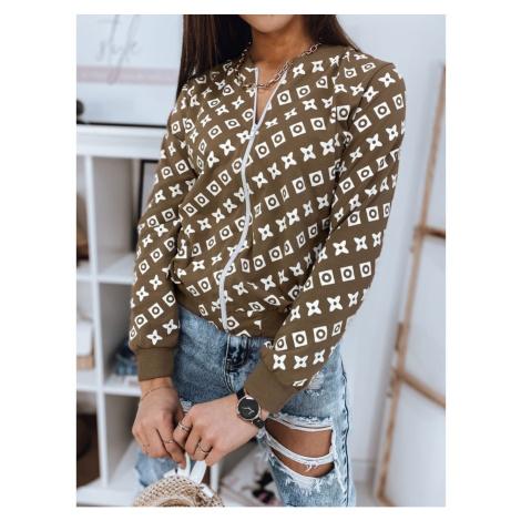 ALMADA women's bomber sweatshirt camel BY0782 DStreet