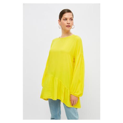Trendyol Yellow Crew Neck Tunic