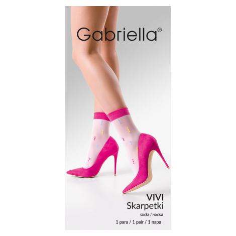 Tenké ponožky se vzorem VIVI lískový oříšek/černá Gabriella