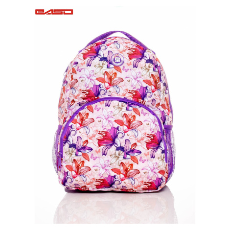 School backpack for girls with floral motifs