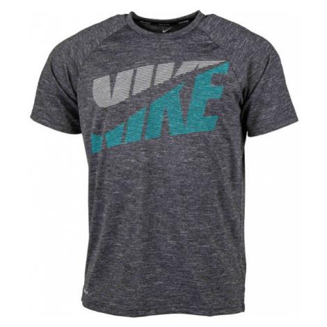 Nike HEATHER TILT černá - Pánské tričko do vody