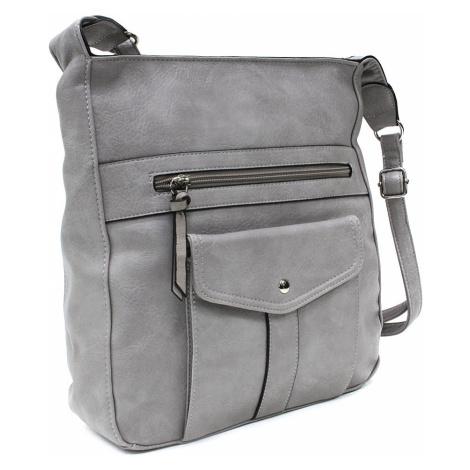 Světle šedá dámská módní zipová kabelka Diahann Tapple