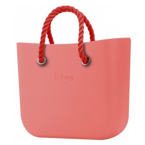 O bag kabelka Corallo s červenými krátkými provazy