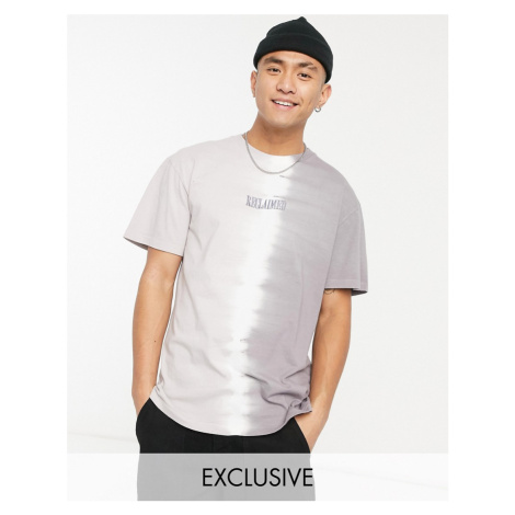 Reclaimed Vintage inspired two tone wash tie dye t-shirt with embroidered logo-Grey