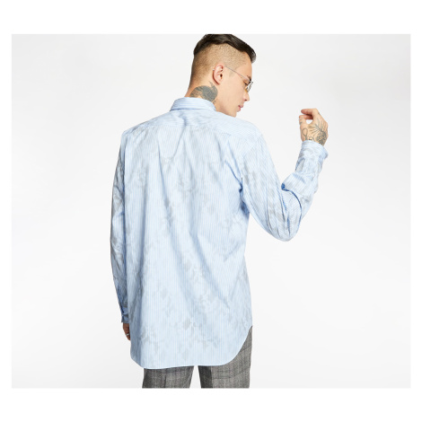 Comme des Garçons SHIRT Striped Long Sleeve Shirt Blue