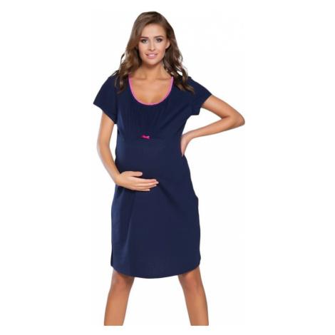 Italian Fashion Těhotenská noční košile Dagna 2 růžový lem