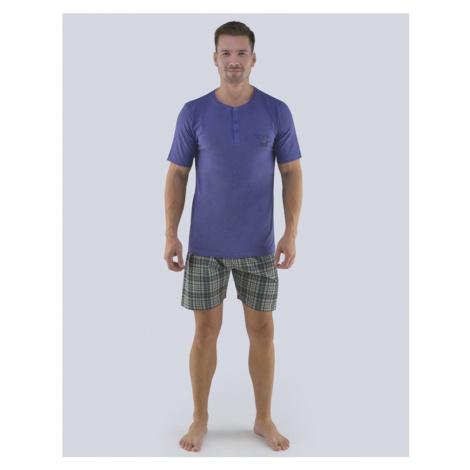 Fialové pánské pyžamo na léto