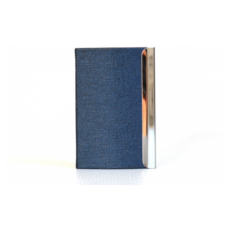 BRIGHT Pouzdro na vizitky Modré, 10 x 2 x 7 (BR16-A043-41MET)