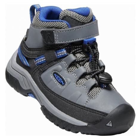 Dětské boty Keen Targhee Mid WP Children steel grey/baleine blue