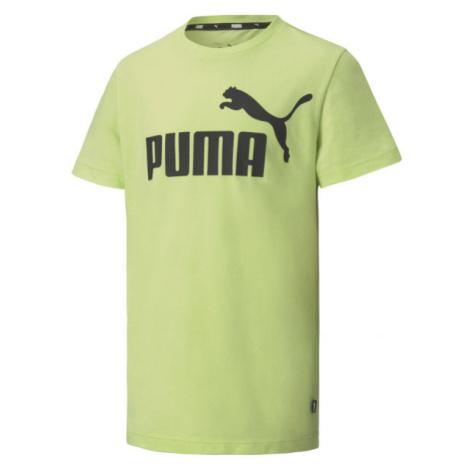 Puma ESS LOGO TEE B zelená - Chlapecké triko