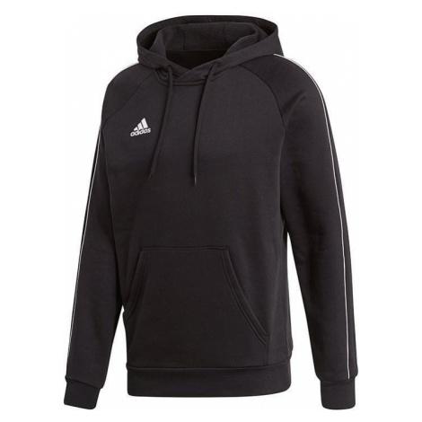 Mikina Adidas CORE18 HOODY Černá / Bílá
