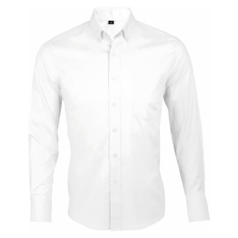SOĽS Pánská košile s dlouhým rukávem BUSINESS MEN 00551102 Bílá SOL'S
