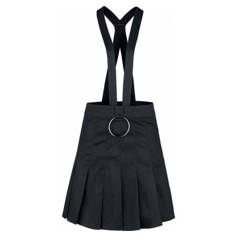 Banned Alternative Pleated Dark Dreams Skirt Sukně černá