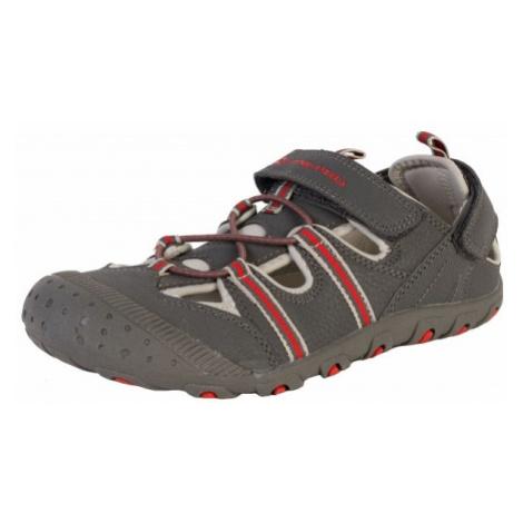 ALPINE PRO BELLEVO šedá - Dětská letní obuv