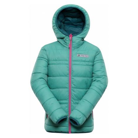 ALPINE PRO SELMO Dětská zimní bunda oboustranná KJCP149568 marine green