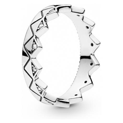 Pandora Luxusní stříbrný prsten Korunka 198033CZ