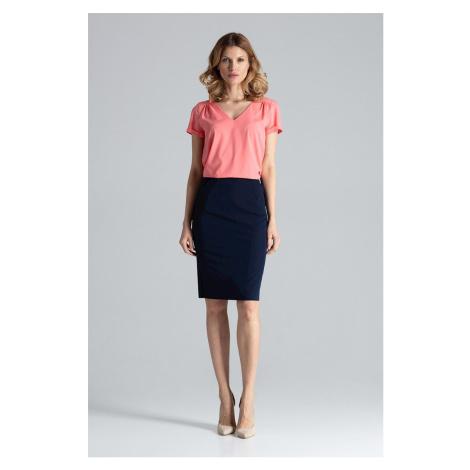 Elegantní pouzdrová sukně po kolena s kapsami