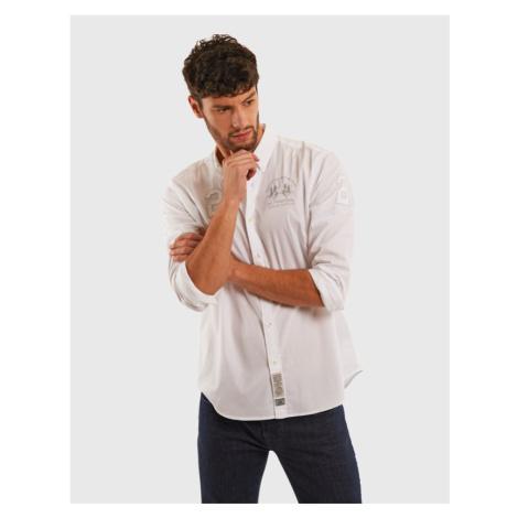 Košile La Martina Man Light Twill L/S Shirt Ligh - Bílá