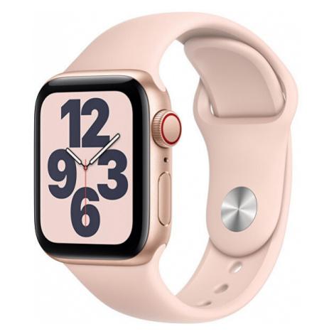 Apple Apple Watch SE GPS + Cellular, 44mm Gold Aluminium Case with Pink Sand Sport Band - Regula