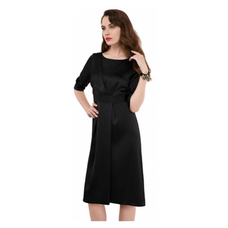Closet London Dámské šaty Closet A-line Pleated Dress Black