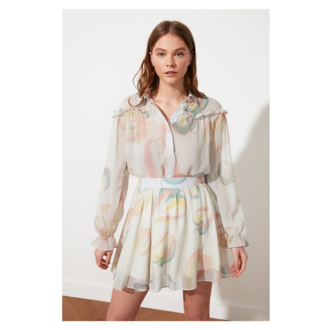 Trendyol Ecru Ruffled Shirt