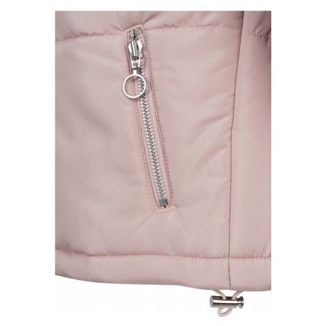 Ladies Oversized High Neck Jacket - rose Urban Classics