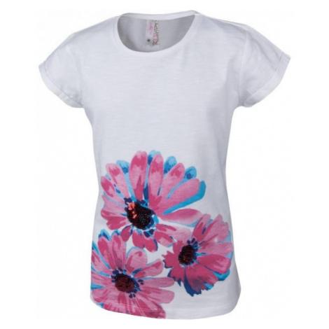 Lewro OLIVIE bílá - Dívčí triko s krátkým rukávem