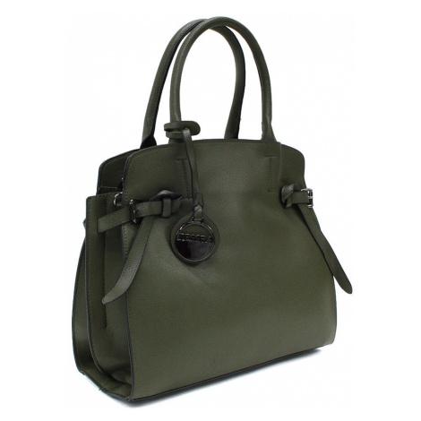 Tmavě zelená dámská kufříková kabelka Arlette Mahel