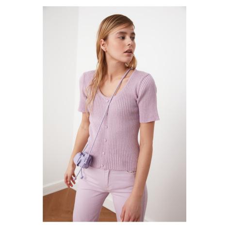 Trendyol Lila Pool Collar Wicked Knitwear Sweater