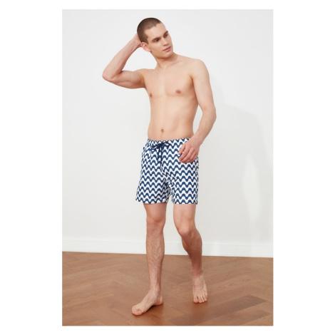 Trendyol Men's Navy Striped Swim Shorts