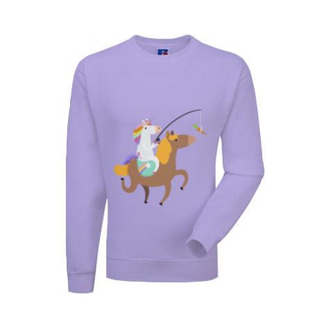 Pánská mikina bez kapuce Unicorn ride a horse