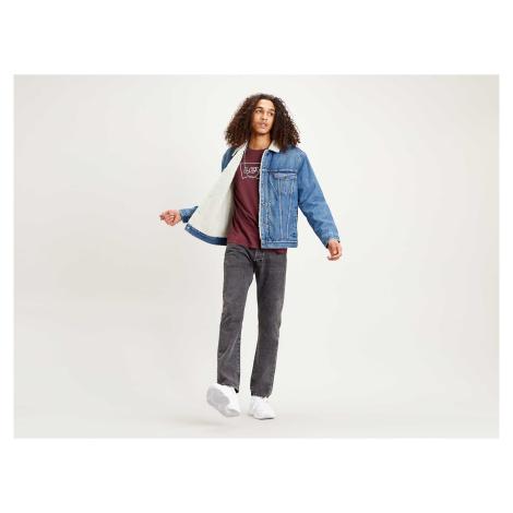 Džínová bunda Levi´s® Sherpa Trucker pánská modrá