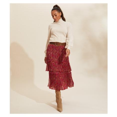 Sukně Odd Molly Claudette Skirt - Červená