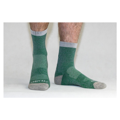 SET v dárkovém balení - 3x ponožky Český ráj outdoor Hike zeleno/šedá