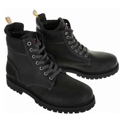 Tommy Jeans pánská turistická černá obuv Tommy Hilfiger
