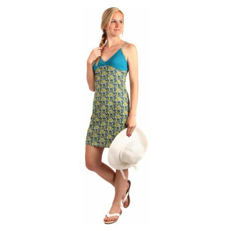 Dámské krátké plážové šaty s úzkými ramínky