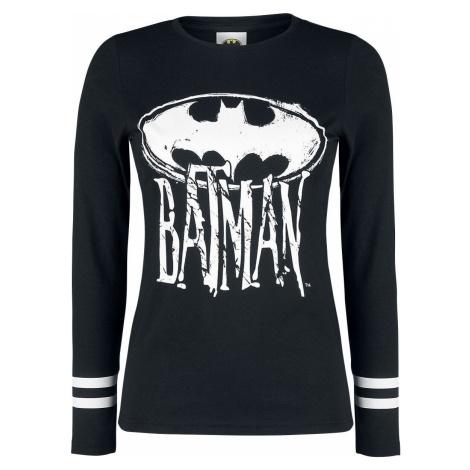 Batman Logo Dámské tričko s dlouhými rukávy černá