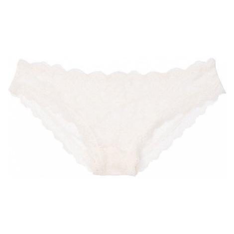 Victorias Secret krajkové kalhotky Lace Cheekini Panty krémové Victoria's Secret