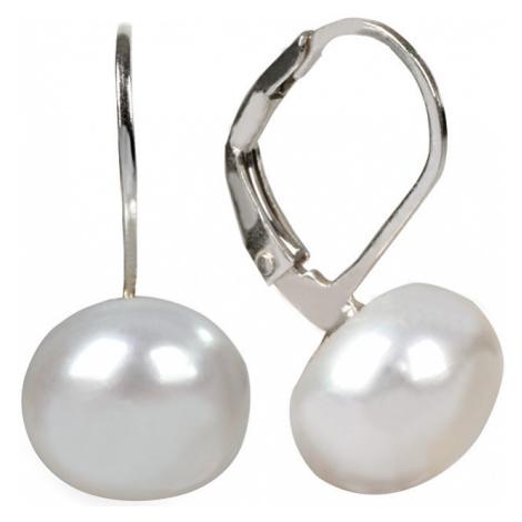 JwL Luxury Pearls Stříbrné náušnice s pravou perlou JL0022