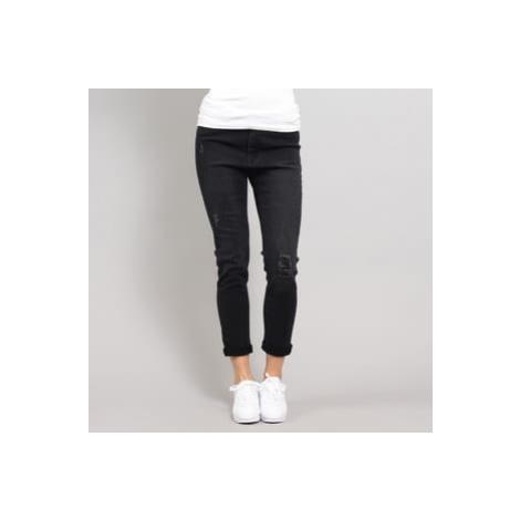 Urban Classics Ladies High Waist Skinny Denim Pants black washed