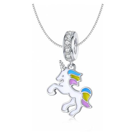 Linda's Jewelry Stříbrný náhrdelník Kouzelný Jednorožec Ag 925/1000 INH102