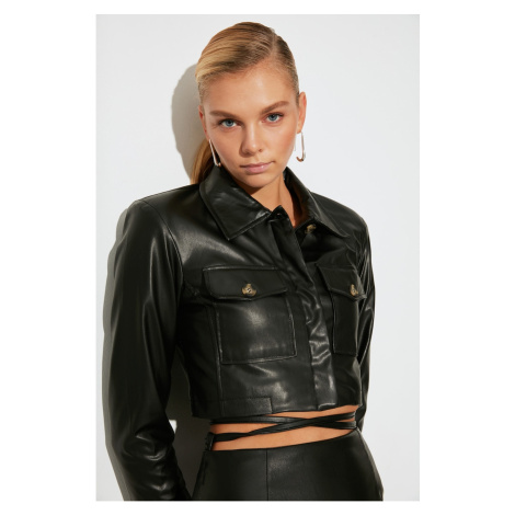Trendyol Black Faux Leather Jacket