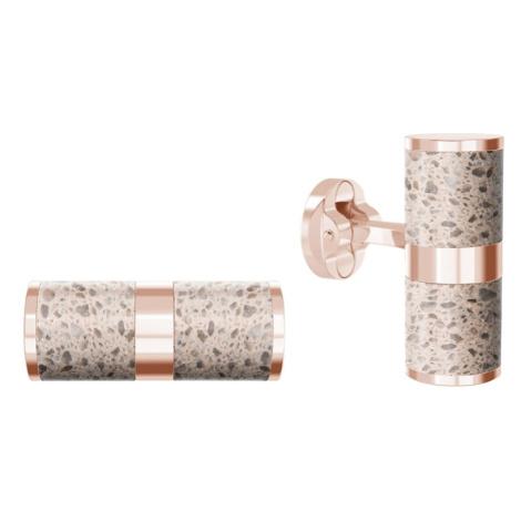 Manžetové knoflíčky Unity – písková – růžové zlato Gravelli