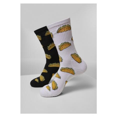 Mr. Tee Taco Socks 2-Pack white/black