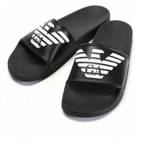 Armani Emporio Armani dámské černé pantofle