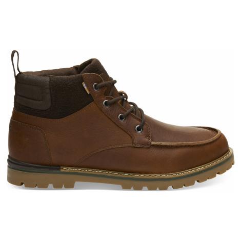 Waterproof Peanut Brown Leather Men Hawthorne Toms