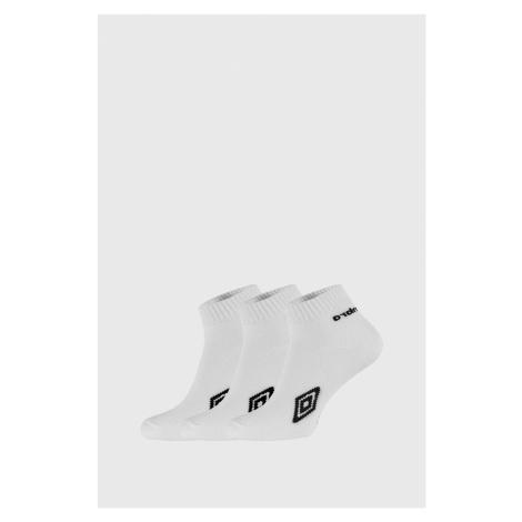 3 PACK kotníkových bílých ponožek Umbro