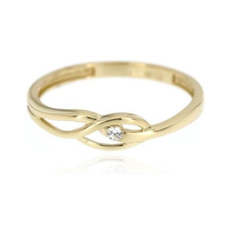 Dámský zlatý prsten se zirkonem 1382ž